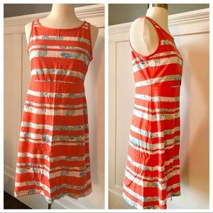 Tommy Bahama Stripe Cotton Tropical Dress NWOT